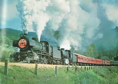 2 locally Yea based J locos run an excursion train to wards Yea 001