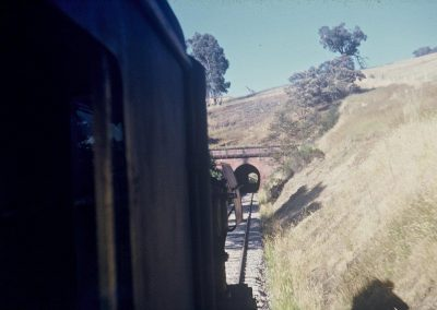 J Class approaching Cheviot Tunnel