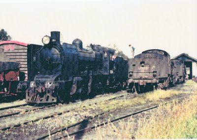 K154 &n J509 at Yea Locomotive depot 001