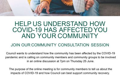 Join the conversation at an online meeting to plan community recovery post  COVID-19